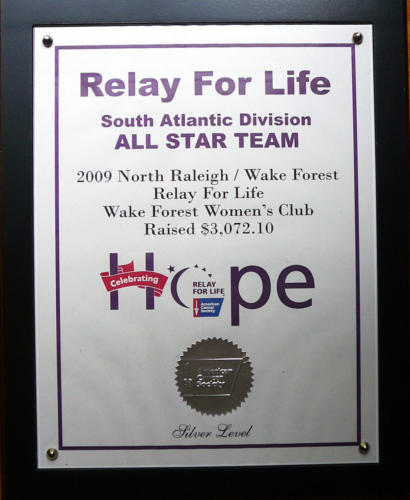 Relay for Life All-Star Team, 2009
